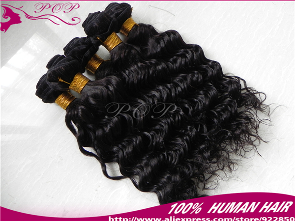 rosa hair products 100 human hair cheap brazilian hair brazilian deep wave hair extensions each piece 100g(China (Mainland))