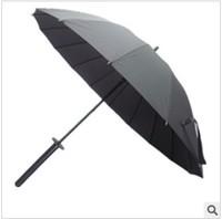 Hot selling Popular Fashion Creative 16k Samurai Umbrella Hndle Type Automatic Rods Gift umbrella