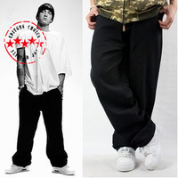 Original Brand Mens Denim Jeans Fashion Hip Hop Cross Classical Black Baggy Plus size 44 Skateboard Pants For Man HipHop Hip-Hop