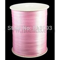 Satin Ribbon,  Pink,  3mm wide,  880yard/roll