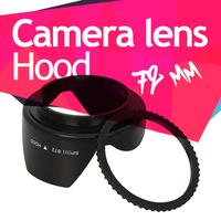 72mm Screw Mount Flower Lens Hood for Canon Nikon Tamron Sony Free Shipping
