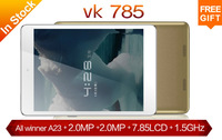 "2014 New Original VK785 Tablet PC ""IPS(1024*768)512GB+8GB 1.7GHz Dual core Android 4.2 Capacitance Screen free shipping"