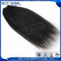 Grade 5A human hair extension 3pcs/lot Kinky straight  brazilian hair
