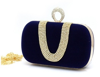 Free Shipping 2013 New Rhinestone Evening Bag. Hand Clutch.  Factory Outlets