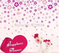 Wall Sticker 130 PCS / Set  Pretty Flower Removable Wall Sticker Home Decor DIY Fashion