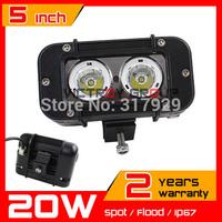 4.6 Inch 20W CREE LED WORK LIGHT BAR  IP67 Spot / FLOOD Offroad BOAT UTE SUV ATV Truck DRIVING CREE LED Light Bar External Light