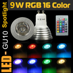 10X Free Shipping! Energy Saving 5W E27 GU10 MR16 RGB E14 LED Bulb Lamp light Color changing IR Remote .(China (Mainland))