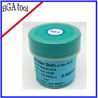 Freeshipping 0.65mm 250K/bottle Lead-free PMTC BGA Solder Ball
