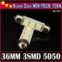 New arrive Free shipping  30 pcs/ 36mm 3SMD 5050 Indicator Light 3smd festoon light Car Interior Lamp Automobile Wedge