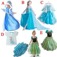 NEW 2015 cartoon dress European and American fashion cartoon dress cartoon dress Children's clothes AQZ071