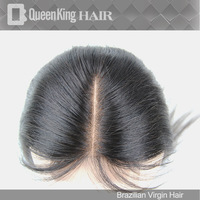 "Cheapest Brazilian Virgin Lace Top Closure 4x4"" Middle Part Silk Straight Hair Closure French Lace Part Closure Bleached Knots"