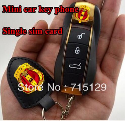 Factory Price Small Mobile Phone Mini Car Key Phone Single Sim Card Micro Cheap Bar Cell Phone Straightforward Free Shipping(China (Mainland))