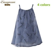 New fashion 2013 spring and summer  brand pure cotton floral girls dress matching with a belt for 2-10 children wear 3 colors
