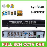 8CH Full D1 H.264 1080P HDMI Realtime CCTV Surveillance Security DVR Standalone DVR Recorder