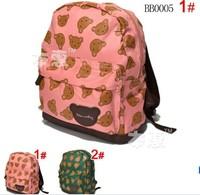 free shipping 1pcs  baby children's bag boygs girls  school bag   kids backpacks  infant mochilas green / pink color