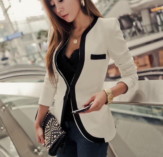 Fashion Blazer Women 2014 all-match Slim Women's Suit Jacket Shoulder Pads Women's Blazer(China (Mainland))