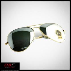 High quality luxury brand rb big sunglasses mens/women sunglasses brand designer 2013 gold reflective stylish mens eyeglasses(China (Mainland))