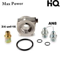 AN8 oil cooler sandwich plate oil cooler thermostat oil sandwich adatpor oil thermostat (SW07)