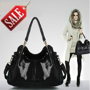 Hot sale! 2015 new fashion composite pu leather bag high quality brand design snake skin shoulder bag women messenger bag FXA04