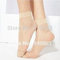 nz037 wholesale100pcs Women's Flexibility is very good short Thin silk stockings Black, deep fleshcolor, light  fleshcolor