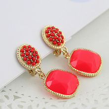 New Design Fashion Colorful Acrylic Beads Drop Earrings for women(China (Mainland))