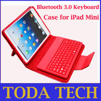 New Style Leather Case with Built-in Silicone Bluetooth 3.0 Keyboard for iPad Mini Free Shipping