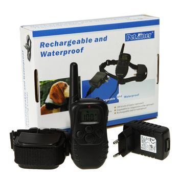 Remote rechargeable pet dog training collar shock vibration anti bark Collier de dressage Aufladbar Hunde Erziehungshalsband