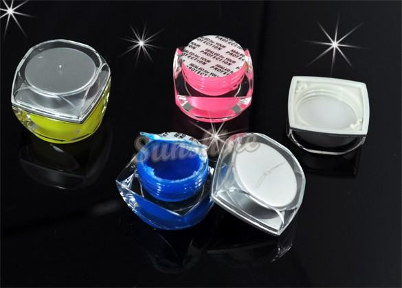 Free Shipping 12 Mix Color UV Gel Set Acrylic Nail Art Gel Glitter Builder Wholesale&Retail 1500