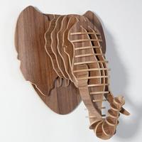 elephant craft,animals head decor,DIY wooden crafts,interior decoration home,novelty items,elephant wood,carved wood wall decor