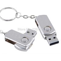 Free Shipping Stainless steel USB Flash Drive Gift | Metal Rotation U Disk | rilakkuma pen drive 64GB Memory Stick