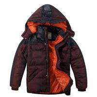 Children Winter Clothing Boy Warm Cotton Coats Outerwear Size 130-165 cm Hooded Design Kids Fashion Thicken Jackets