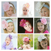 1 Piece Reail, Fashion 2013 Girls Hairband Kids Hair Band Elastic Headwear Flowers for Hair Accessories Headband, Free Shipping!
