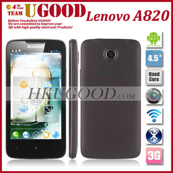 New Original Lenovo A820 MTK6589 Quad Core Android phones 4 RAM 1GB ROM 4GB 4.5 Inch IPS Screen Support Russian Freeshipping!