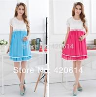 Summer 2014 New Fashion Model Maternity Dress, Brand Shorts Women Slim Plus Size Vestidos Pregnant Top 1 Women Clothing 80059