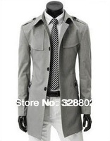 High quality Spring 2014 Men's Trench coat new leisure single-breasted trench coat dust coat for men trench coat overcoat XXXL