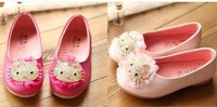 2014 New Spring Summer Fashion Cute Princess Girls Shoes with Kitty Sweet Comfortable Children Sandals Kids Shoes