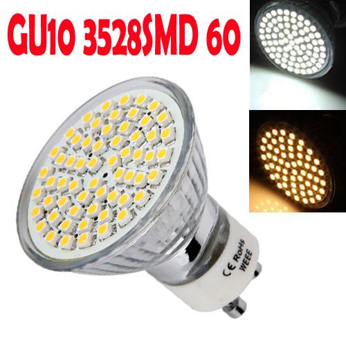 10pcs GU10 LED 220V Warm white Cold white 3528SMD 60 LED 72 LED 80 LED Spot Light LED Bulb Lamp Energy Saving 3W 3.5W 4W(China (Mainland))