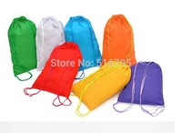 20pcs Candy color drawstring tote clothing shoe storage bag travel storage bag at home storage bag Home Decoration