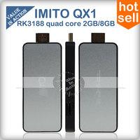 imito QX1 Android 4.2 TV BOX RK3188 Quad Core Mini PC Smart TV Stick /Google TV 2G/8G Bluetooth WiFi 1080P HDMI