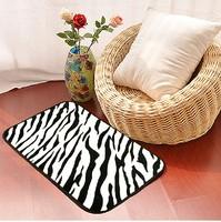 50x80cm Fashion Design Animal Print Zebra Leopard PATTERNED floor mat Bathroom Mat Area Rug door way Mat  Black and White CR-04