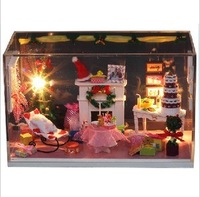 Genuine DIY doll house, dream princess room,mini scene,toys for kids