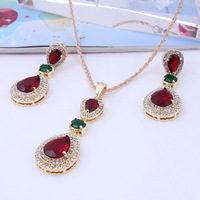 2014 Hot Sale New Arrival African Costume Women Wedding Golden18K Gold Plated Charming Crystal Jewelry Sets