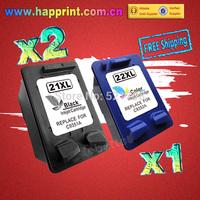 C9351AN C9352AN 21XL 22XL Refillable Ink Printer Cartridge for HP 21 22 Deskjet 3910 3920 3930v 3940v D1360 D1400 D1415.(2BK+1C)