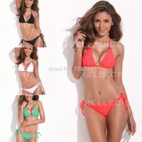 Red/White/Black/Green Push Up Bikini Brazilian Swimsuit Golden Hardware Rings Women Swimwear Bathing Suit