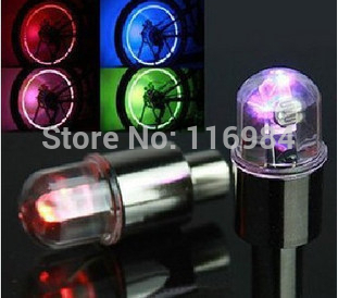 4pcs Bikecle & Car &Motorcycle Tyre Valve Wheel Stem Cap LED Light Lamp Bulb Colorful(China (Mainland))
