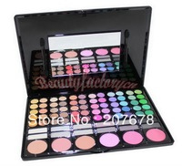Free Shiping Cheap Beauty Product Series-- 2#P78 78 Color Eyeshadow / Cheek Blush /Pressed Powder/ Make Up Set