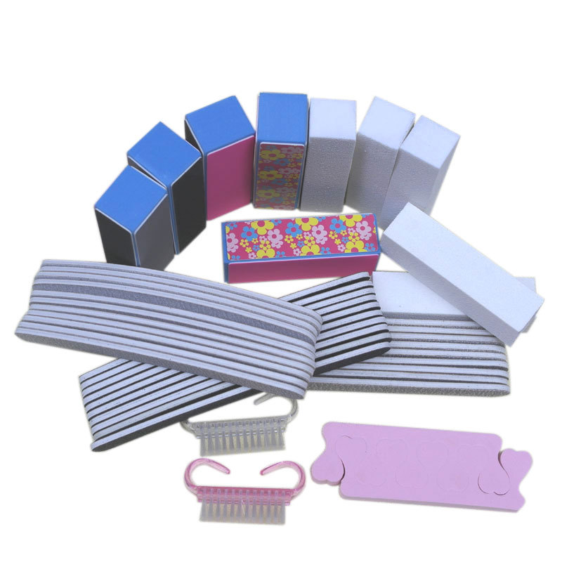 40pcs Nail Care Set File Buffer Color Sanding Block For Nail Art Shiner Manicure & Pedicure Nail Tool Products Wholesale(China (Mainland))