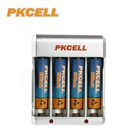 1Piece* US/EU Plug Standard Charger 8174 for Ni-MH / Ni-Cd AA/AAA Rechargeable Battery + Ni-MH AAA900mah in 4pcs