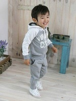 Retail kids sport wear Baby Clothing Set Children suit Fashion two-piece Children clothes Sets Free shipping