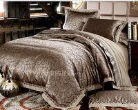 Luxury Jacquard Comforter Bedding Sets Gold Duvet Cover King Size Bedding Set/Bedclothes/Bed Set